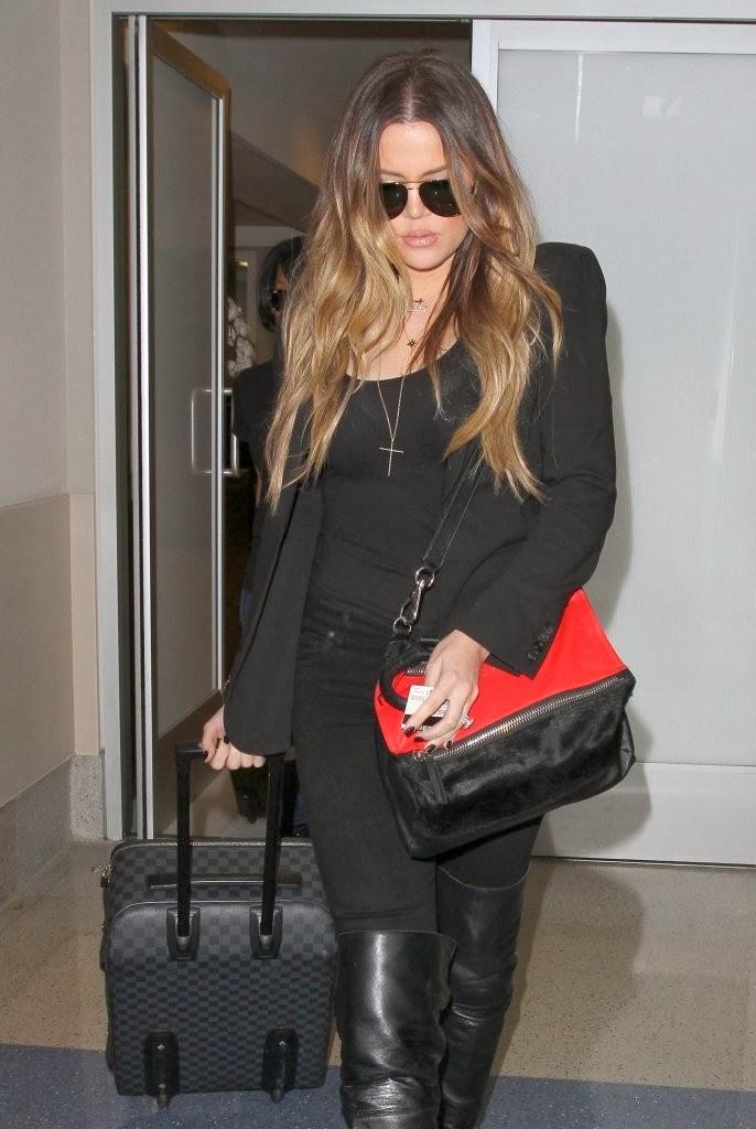 Celeb Diary: Khloe Kardashian @ LAX Airport