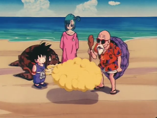 roshi le regala la nube voladora a Goku