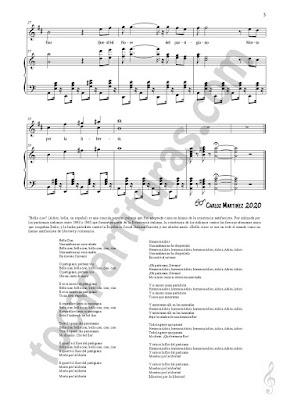 3 LETRA Trompeta y Fliscorno Partitura de Bella Ciao a Dúo con Piano Acompañamiento Sheet Music for Trumpet and Flugelhorn Music Scores PDF/MIDI de Trompeta