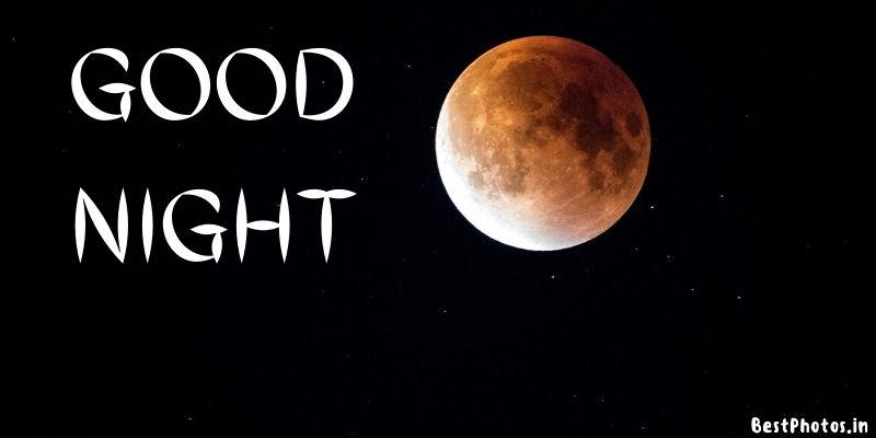 good night images moon light