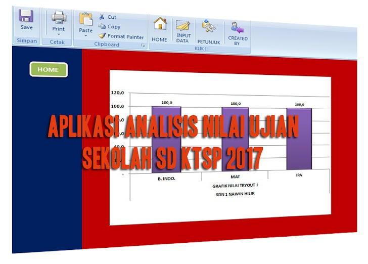 Aplikasi Analisis Nilai Ujian Sekolah SD KTSP 2017
