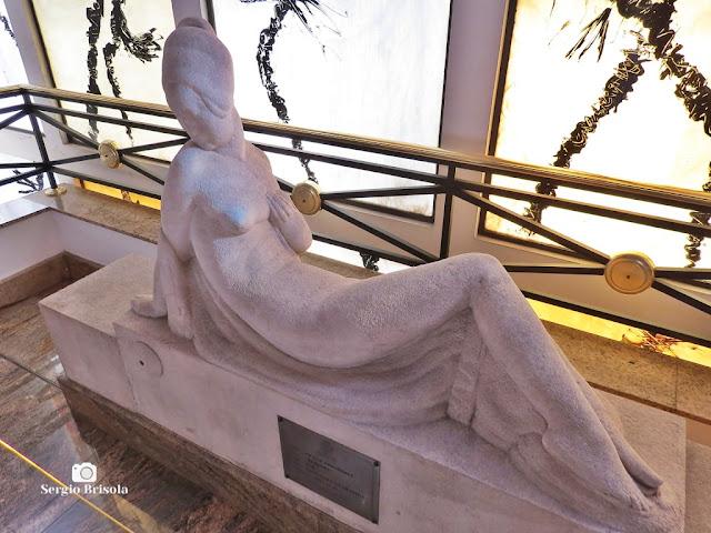 Close-up da Escultura Repouso - MAB-FAAP - São Paulo