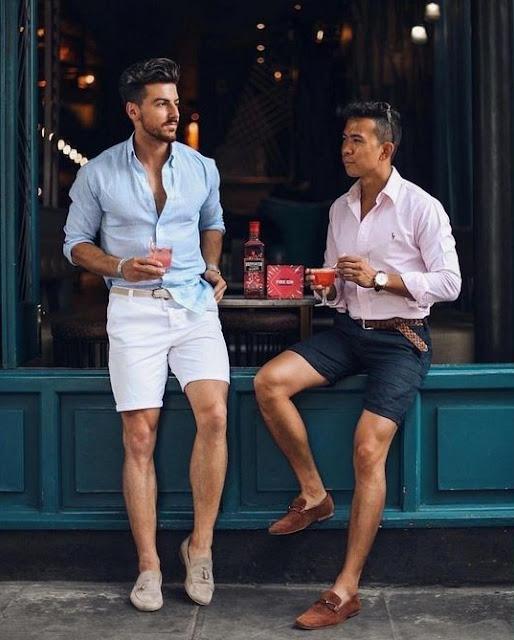 スマートカジュアルなショートパンツの着こなし。。