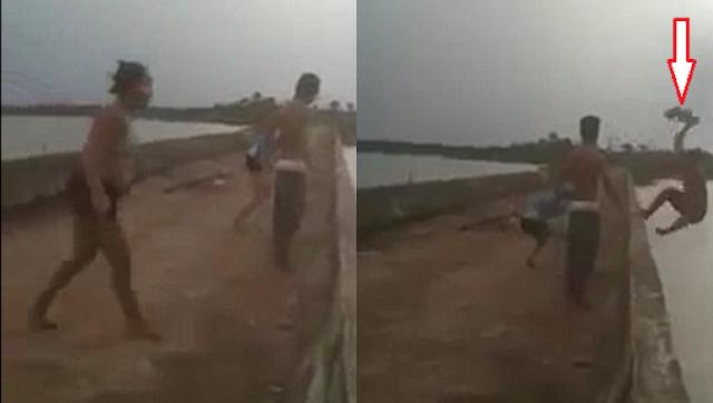 """بالفيديو دفعته صديقته من أعلى الجسر إلى البحيرة .. فحصلت الكارثة شابّ برازيلي يبلغ من العمر """"18 عاماً"""""""