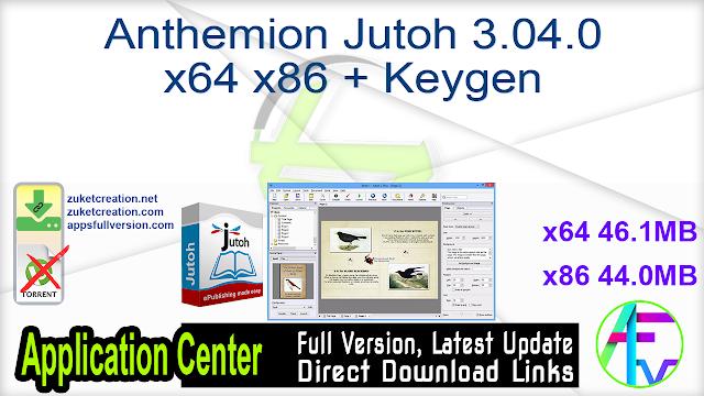 Anthemion Jutoh 3.04.0 x64 x86 + Keygen