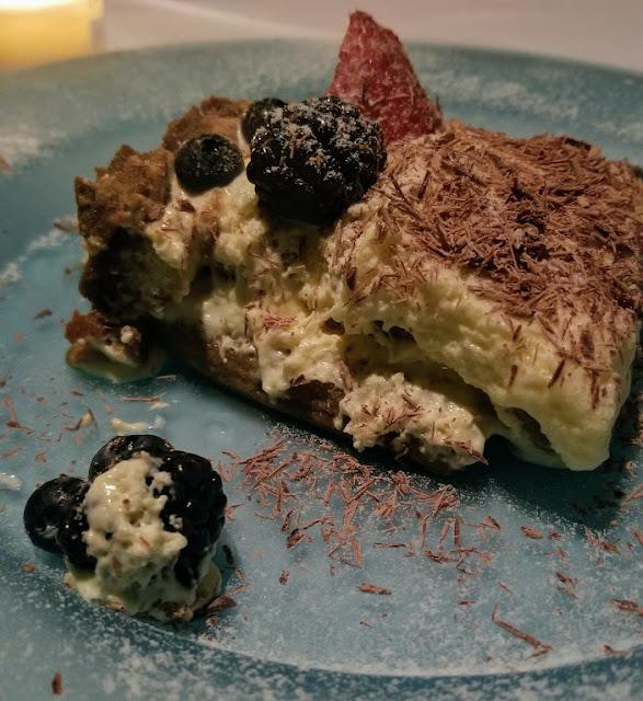 Tiramisu from Cafe Cortina, Farmington—super light and fluffy!