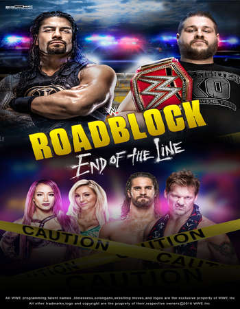 Poster Of WWE Roadblock End Of The Line 18th December 2016 PPV 700MB    Free Download Watch Online world4ufree.org