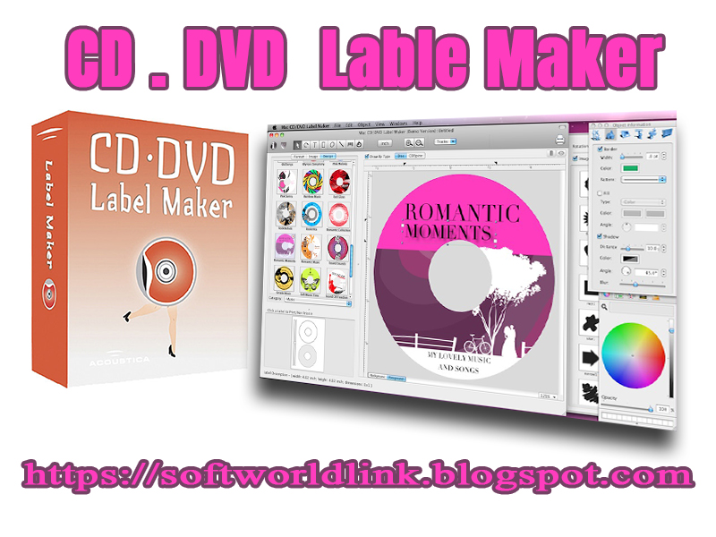 CD/DVD Lable Maker-Create CD/DVD Labels  Covers- full version free