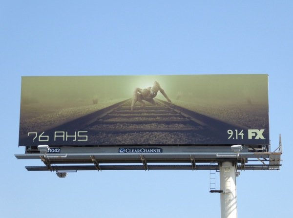 American Horror Story season 6 railroad monster billboard