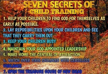 Seven secrets of Child Training