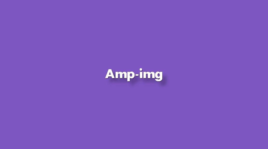 ¿Cómo agregar amp-img?