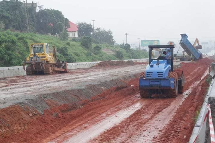 See The Ongoing Construction Of The Kara Bridge-Berger Of  The Lagos-Ibadan Expressway - Photos