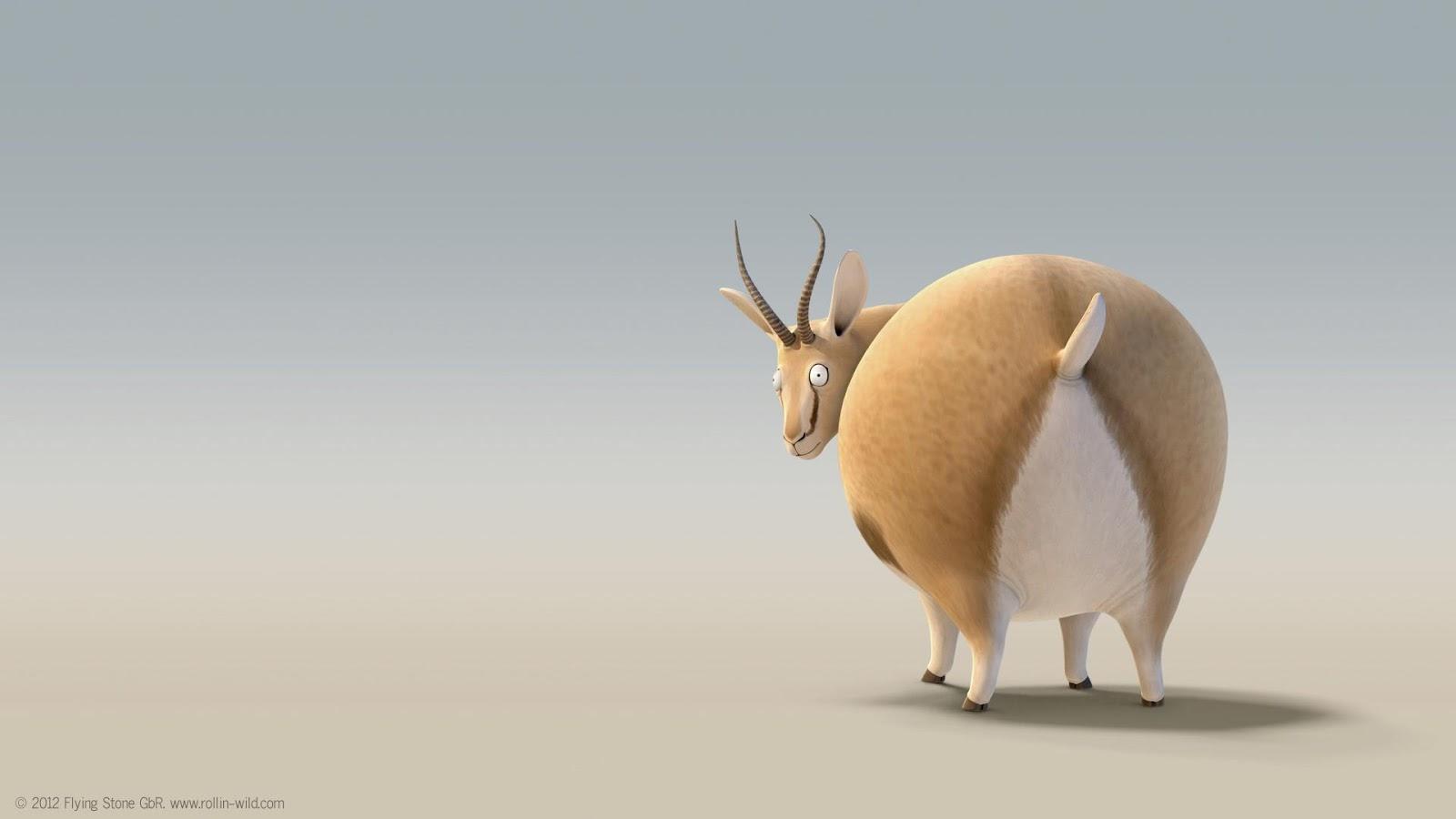 Rollin Wild Animasi Lucu Hewan Hewan Gendut Q Doh Community