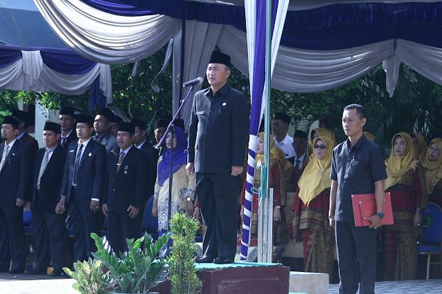 Sekda Muba Pimpin Upacara HAB ke-72