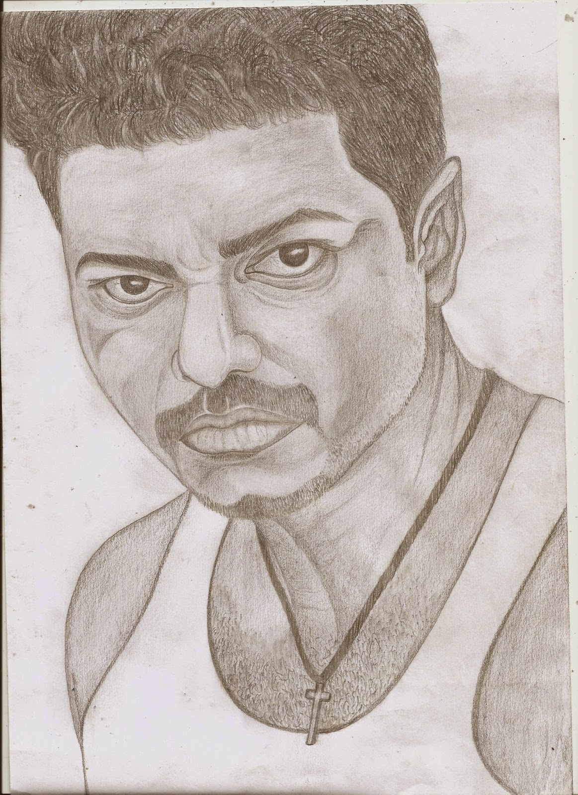 Jackhi pencil drawing vijay pencil sketch