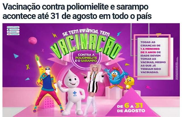 Vacinação contra sarampo e poliomielite é intensificada nos postos de saúde em Guajará-Mirim