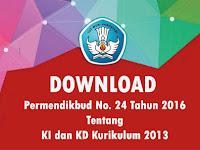 Permendikbud Nomor 24 tahun 2016 Tentang KI KD Kurikulum 2013