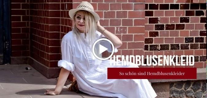 Hemdblusenkleid-Weiß-Lang