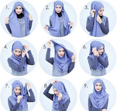 Tutorial Hijab Turban Pashmina Modern Gaya #24 Semi Turban Cool