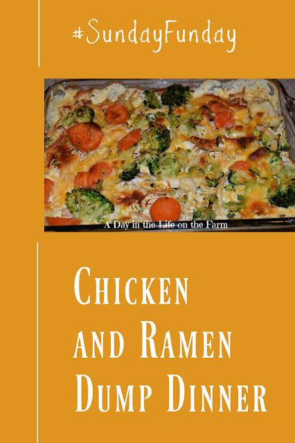 Chicken and Ramen Noodle Dump Casserole pin