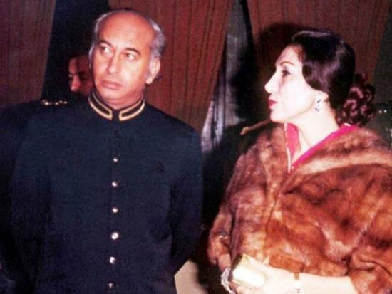 Zulfiqar Ali Bhutto and Begum Nusrat Bhutto