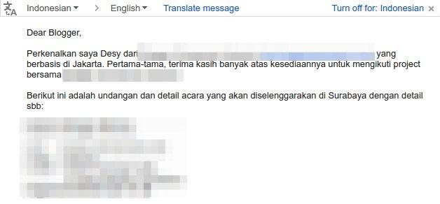 Contoh Email yang Baik