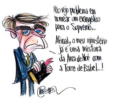 GENTE DE MÍDIA: CHARGES. Bolsonaro e a questão evangélica segundo ...