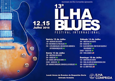 Shows nacionais e internacionais no 13º Ilha Blues Festival Internacional