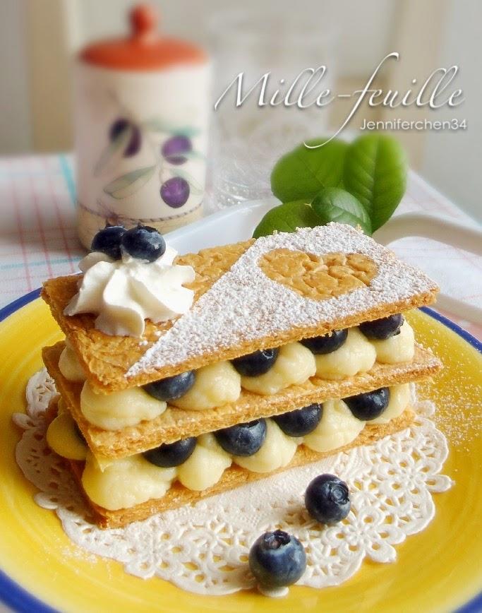 【Sweet】經典法式甜點! 藍莓千層酥(Mille-feuille)