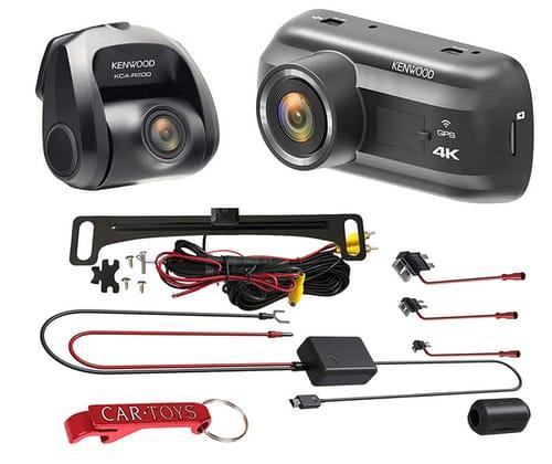 Kenwood DRV-A601WDP 4K Ultra HD Dual Dash Cam Bundle