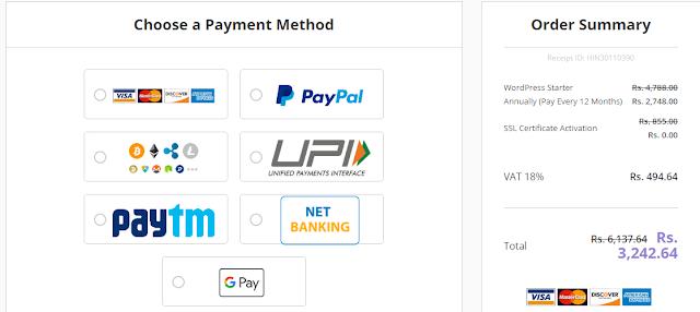 Hostinger payment gateway