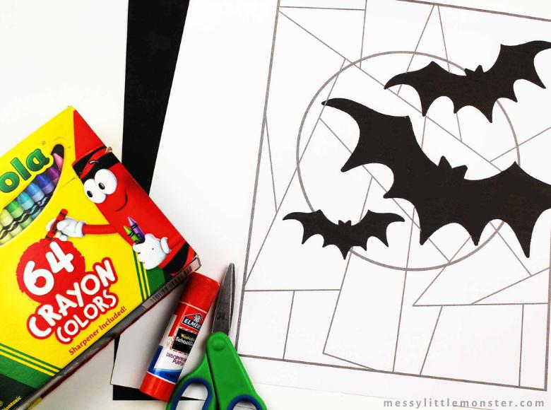printable bat colouring page
