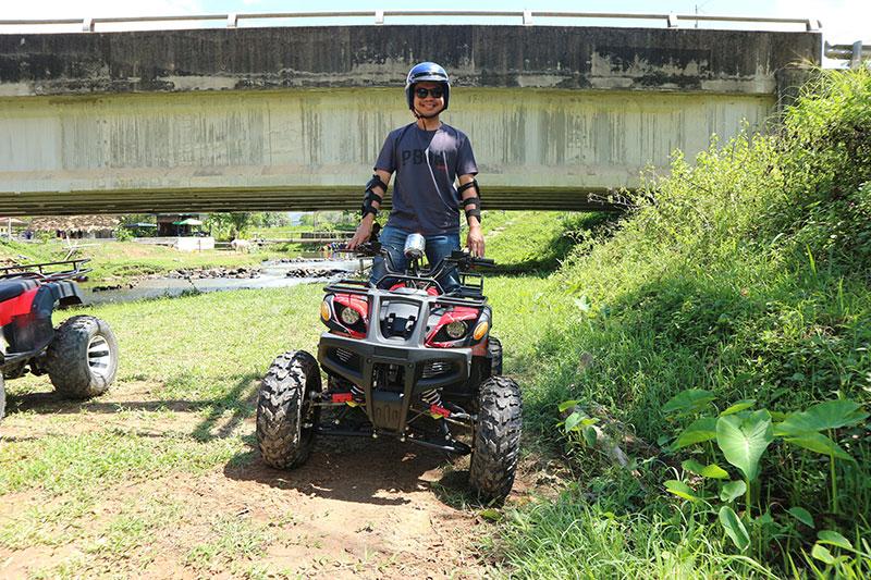 Sukan ekstreme ATV di Marakau Bombon Ranau.