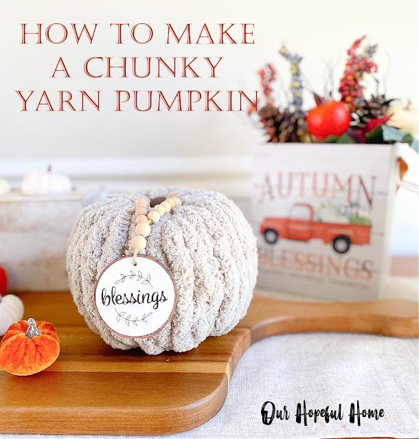 How To Make A Chunky Yarn Pumpkin