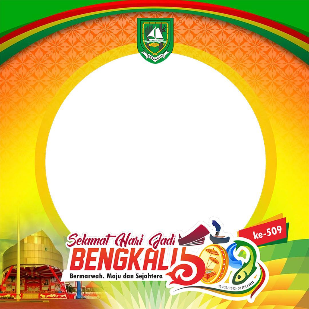 Template Background Frame Bingkai Twibbon Ulang Tahun ke-509 Kabupaten Bengkalis 2021