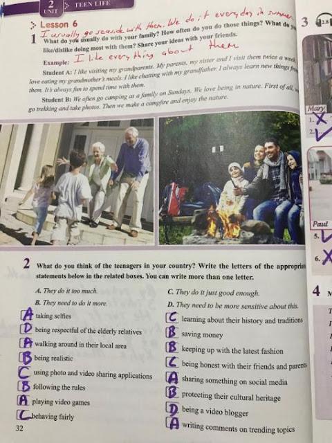 8. Sınıf Tutku Yayınları İngilizce 32. Sayfa Cevapları Ünite 2 Teen Life