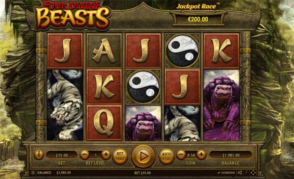 Main Gratis Slot Indonesia - Four Divine Beasts Habanero
