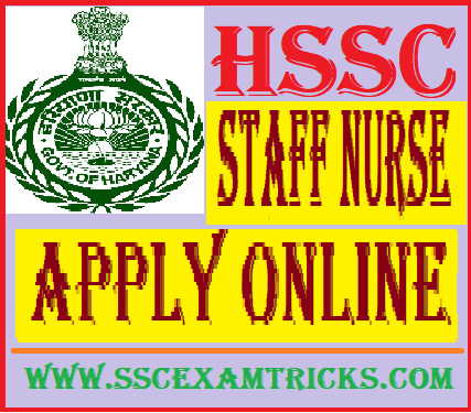 Haryana HSSC Staff Nurse Recruitment