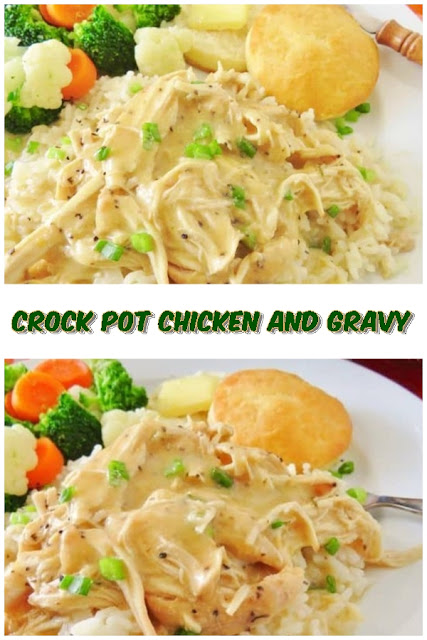#Crock #pot #chicken #and #gravy #chickenrecipes #recipes #dinnerrecipes #easydinnerrecipes