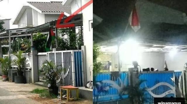 Viral! Warga Beji Depok Kibarkan Bendera Negara Lain
