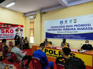 Polres Pelabuhan Makassar Terima Sosialisasi Universitas Terbuka
