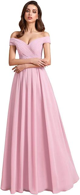 Good Quality Pink Chiffon Bridesmaid Dresses