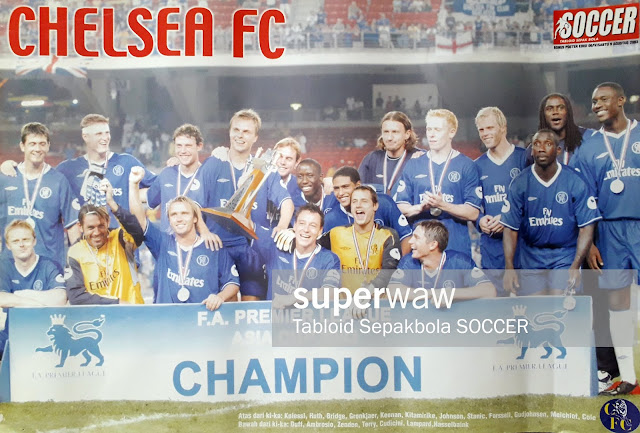 POSTER CHELSEA FC F.A PREMIERE LEAGUE ASIA CUP CHAMPION