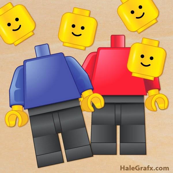 Ponle la Cabeza a Lego. Para Imprimir Gratis.
