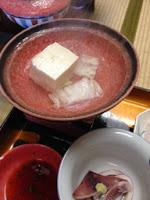 il fornellino del nabemono con il cubetto di tofu