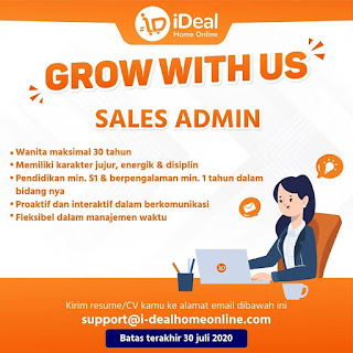 Sales admin di ideal home online