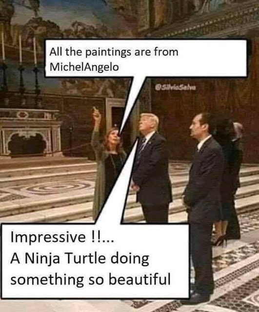 Trump jokes Micheal Angelo jokes