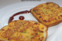 Eggless French Toast (Savory Version)