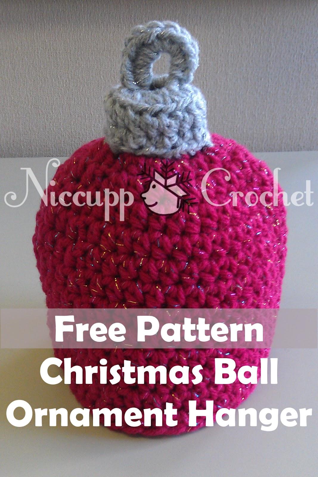 Niccupp Crochet: Christmas Ball Ornament Hanger Crochet ...