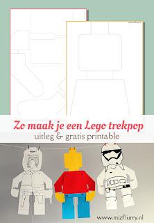 Zo maak je een Lego trekpop - uitleg en gratis printable
